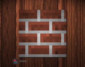 Adesivo Caixa Acrílica Tijolos Minecraft
