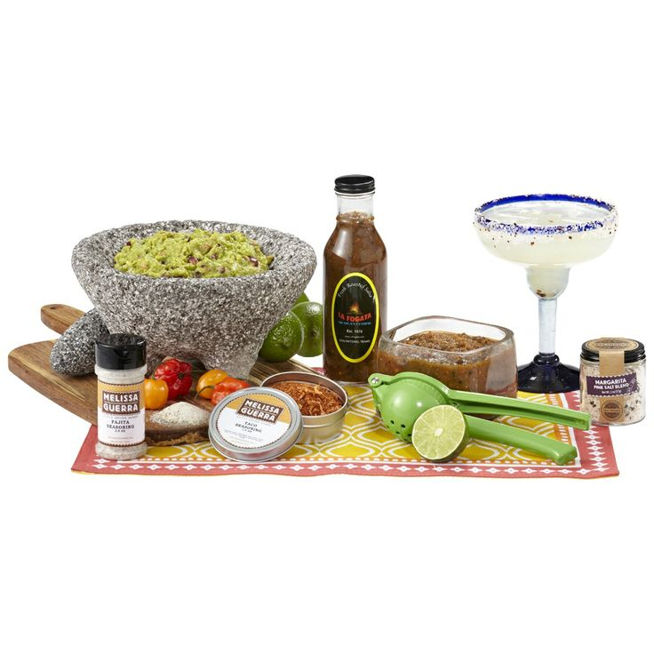 For our Southwestern Fiesta box, we've pulled together some of San Antonio's finest: award-winning salsa from La Fogata, custom-crafted taco seasoning from local legend Melissa Guerra, and local favorite mouth-watering La Menchaca fajita seasoning. Pair those with an authentic Mexican lava-rock molcajete, a handy lime juicer, and life-changing margarita salt handcrafted with chipotle chiles, and you've got one heck of a fiesta. https://hamptonslane.com/boxes/current