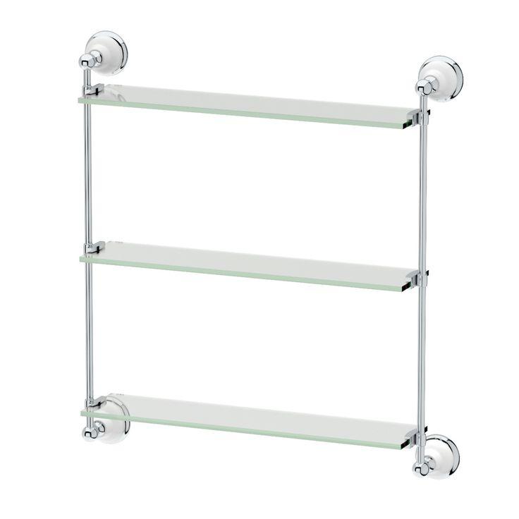 Gatco 1395 Franciscan Threetier Glass Bathroom Shelf