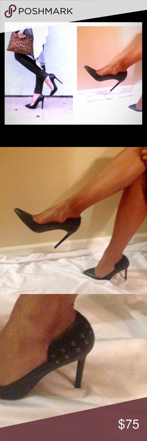 "Joe's Black Pums Heel height 4"". Perfect with jeans !! Joe's Shoes Heels"