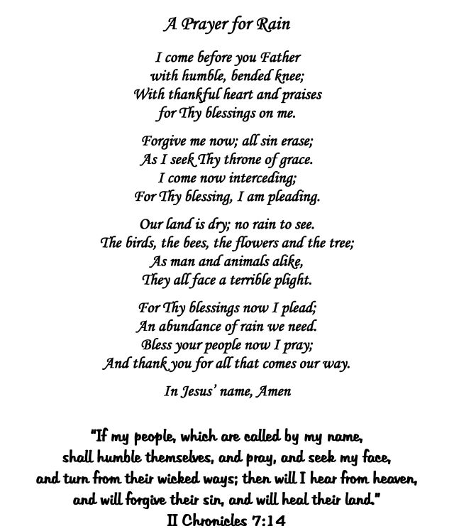 Prayer for rain - Google Search