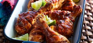 These spicy drumsticks make great party food - and your guests will never know they're a healthy option!