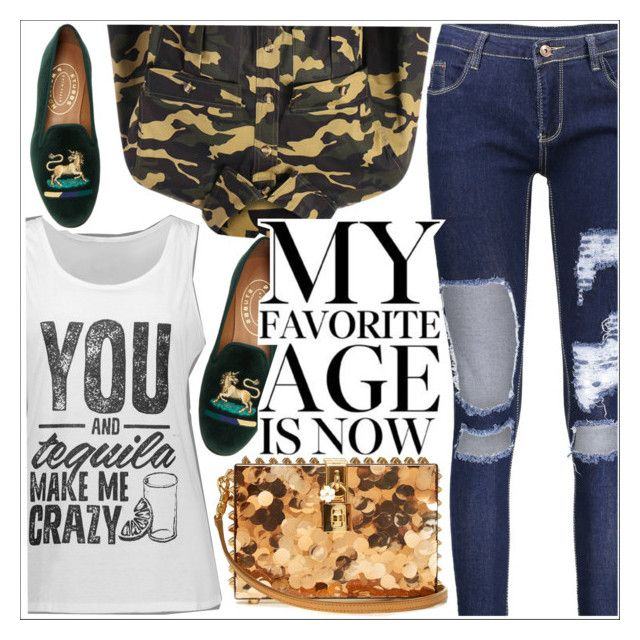 """""""My favorie age is now!"""" by teoecar ❤ liked on Polyvore featuring Dolce&Gabbana and Stubbs & Wootton"""