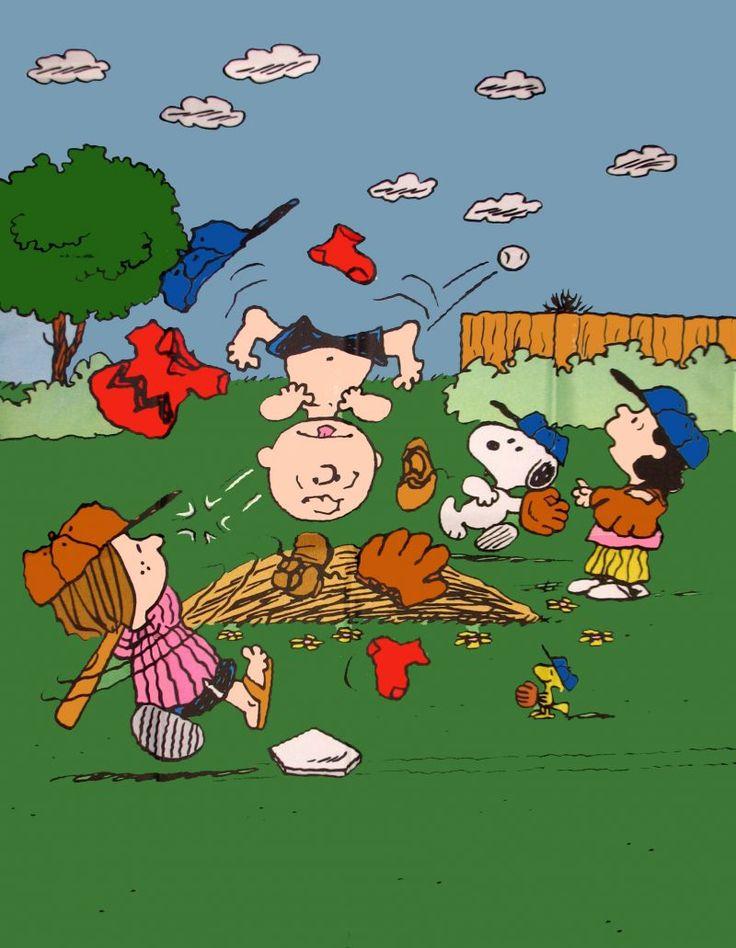 Peanuts Gang Baseball Flag