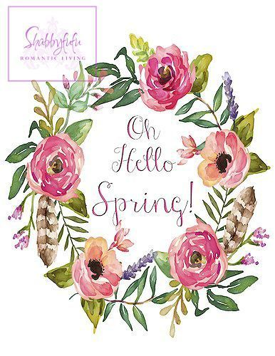 Free Spring Printable Wreath | Shabbyfufu