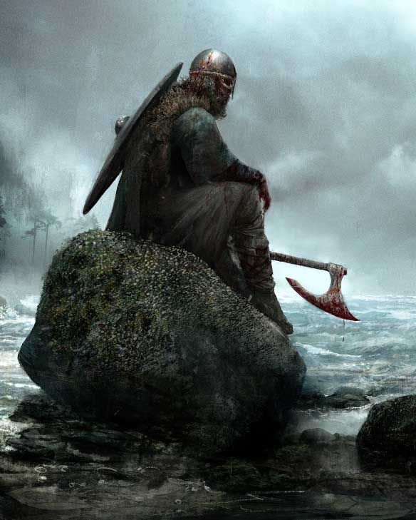 "fantasyartwatch: "" Viking Repose by Seb Mckinnon """