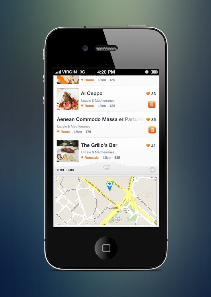 Preview of the results view screen of Cibando app.