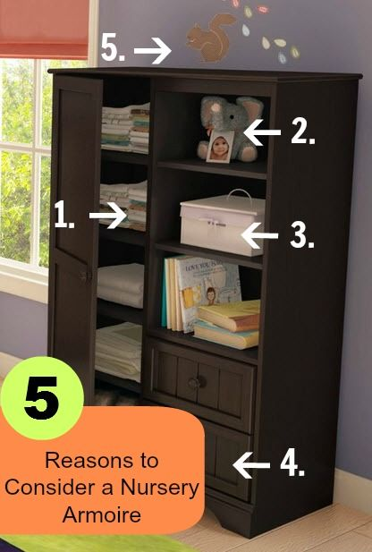 organize babys room with a nursery armoire - Baby Room Checklist