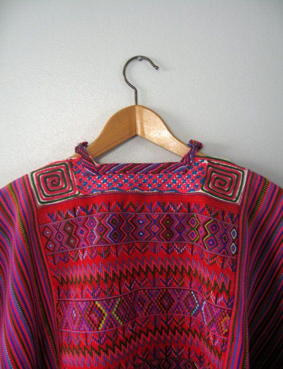 Vintage Huipil traditionnel centraméricain Blouse / par luola