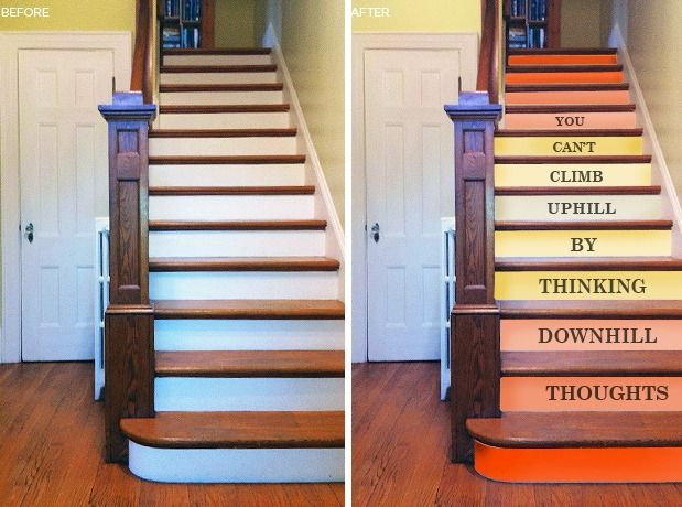 20 Attractive Painted Stairs Ideas: Best 20+ Staircase Painting Ideas On Pinterest