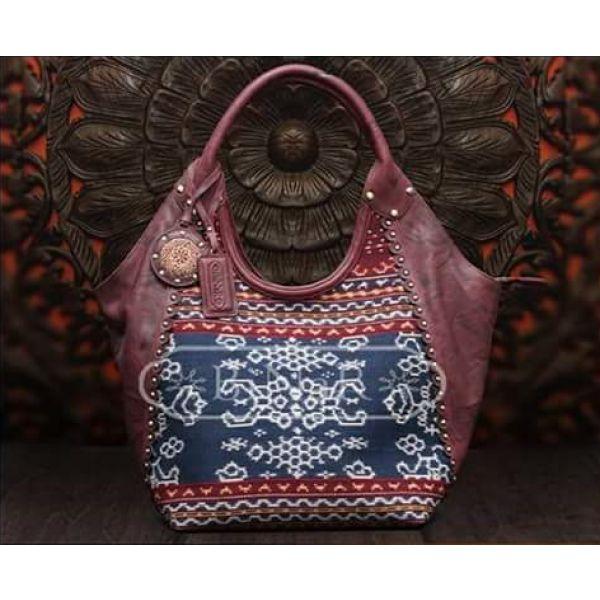 VANYA TOTE BAG PuRPLE - Batik Bag - Bags