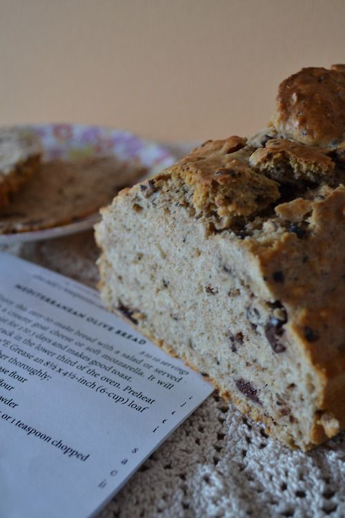 Mediterranean Olive Bread from scratch recipe on The Crocheted Cupcake ...