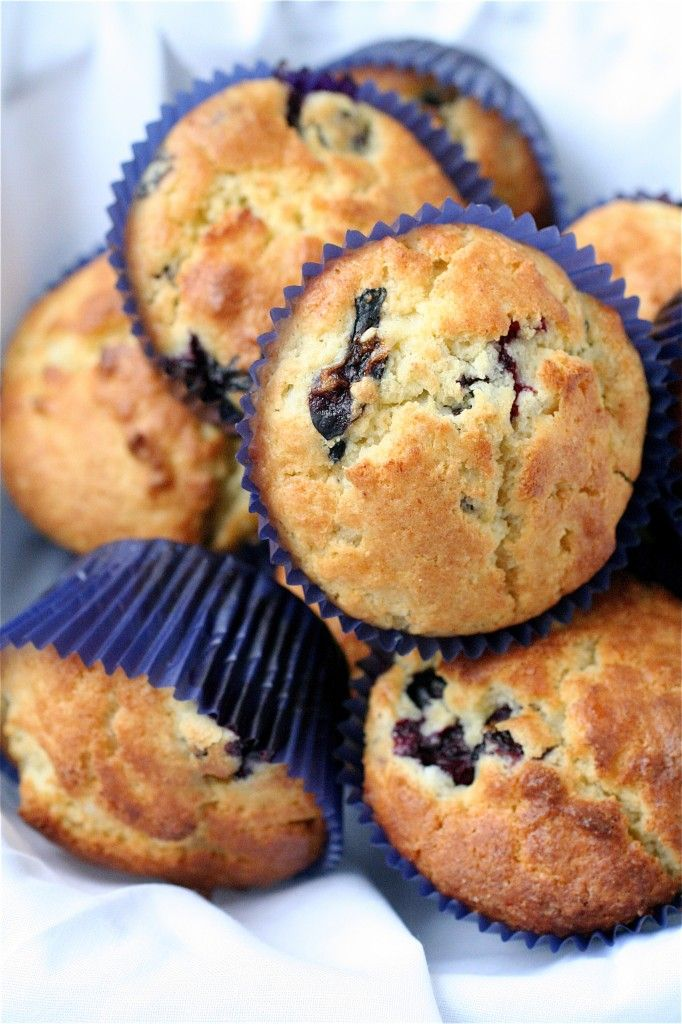 Blueberry Lemon Ricotta Muffins. I literally just pulled these out of the oven, but with blackberries instead of blueberries. I inhaled one in probably less than a minute, so I'd say they were pretty good. :)