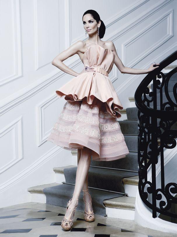 Model Eugenia Silva in Christian Dior Haute Couture #trimwork #trim #moulding #interiorfinishings #fashion #inspiration