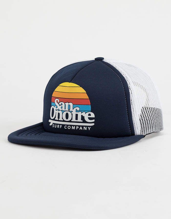 9ea74dbec76ba San Onofre Surf Co Navy Mens Trucker Hat   Hats in 2019   Mens ...