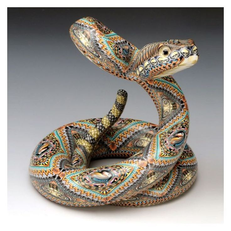 Rattle Snake Sculpture | Papa | Clay | FimoCreations