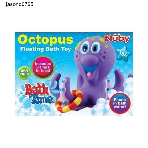 Bath Toys Fun Playtime Kids Nuby Octopus Multi Colour Baby Bathtime Bathroom