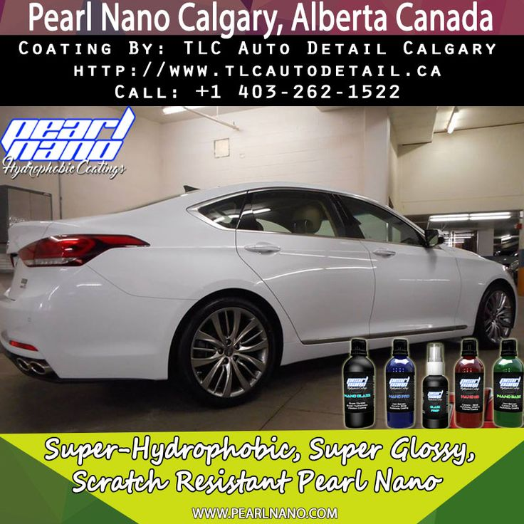 This 2015 Hyundai Genesis is shining bright now that it's received our paint correction & ceramic protection treatment locking in the shine with the super hydrophobic Pearl Nano Coatings paint wheels trim and glass . Pearl Nano Coating by TLC Auto Detail Calgary. For Interested Distributors and Dealers of Pearl Nano please contact Dave: Dave@PearlUSA.net or Call: 808 779–7163. Visit Pearlnano.com for more information. #TLC #autodetail #pearlnano #ceramic #protectivecoatings #pearlnano
