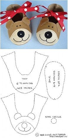 De los niños de coser zapatillas-Bears