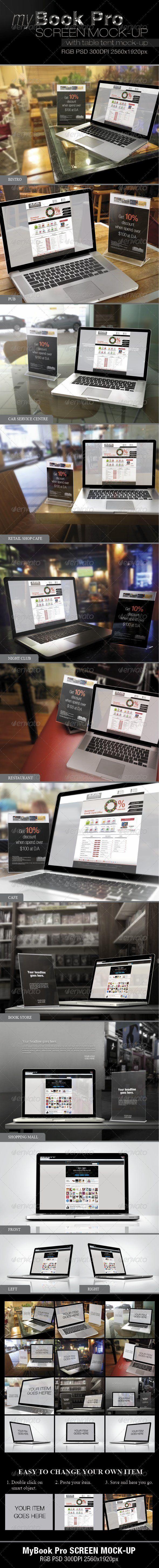 myBook Pro Screen Mock-up - Laptop Displays