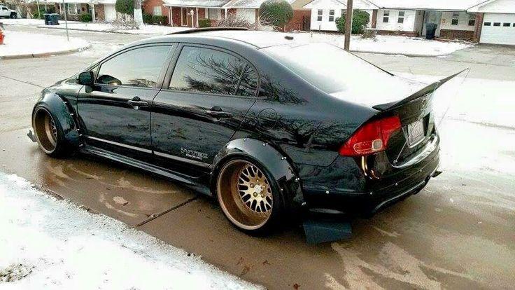 Heavily Modified Honda Civic Si Widebody Stance Slammed