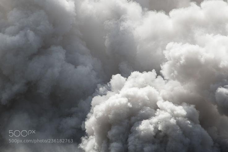 Bomb smoke background Smoke caused by explosions White smoke l by PramotePolyamate