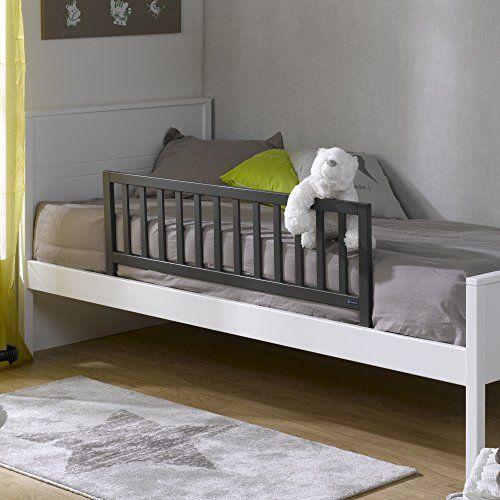 Soldes Alfred & Compagnie – Barrière de sécurité adaptable anthracite: -Votre enfant découvre son lit de grand… il lui faudra peut-être…