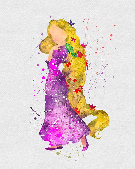 - DESCRIPTION - SPECS - PROCESSING SHIPPING - Tangled Rapunzel Watercolor Art Print. Our designs make an attractive, modern contemporary wall piece for your baby nursery, home, office or even as a gif