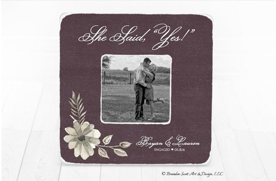 Engagement Frame Engagement Gift Wedding Frame by BrandonScottAD