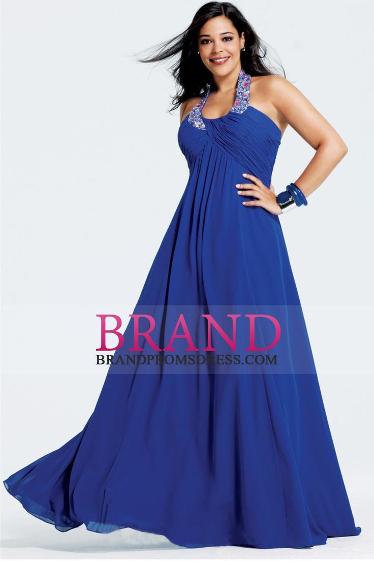 Plus Size Evening Dresses Floor Length With Beading