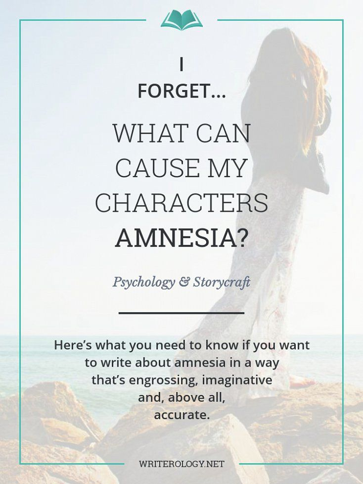 Do you know the physiological and psychological causes of amnesia? If you want to write about it accurately, it's one of the first things you'll need to know. | Writerology.net