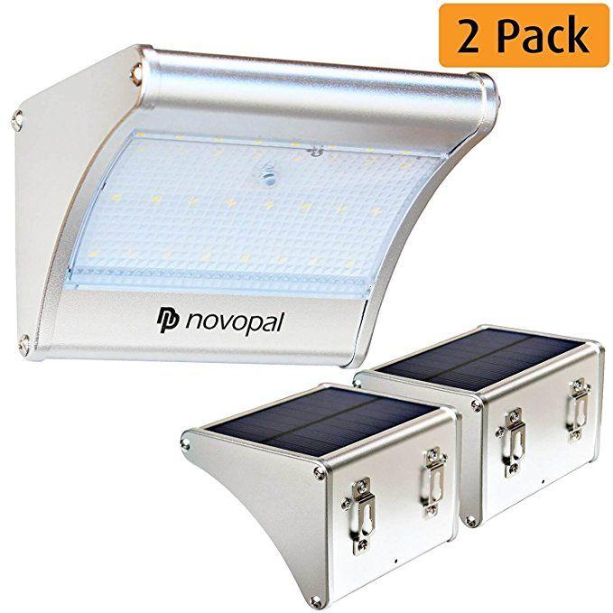 Novopal Solar Lights Outdoor Motion Sensor Waterproof Led Aluminum Solar Lights For Outdoors Ga Solar Powered Security Light Solar Lights Outdoor Solar Lights