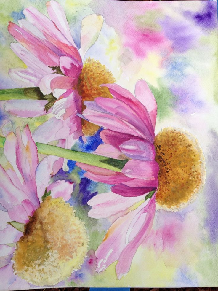 Watercolor flowers art pinterest for Watercolor painting flowers