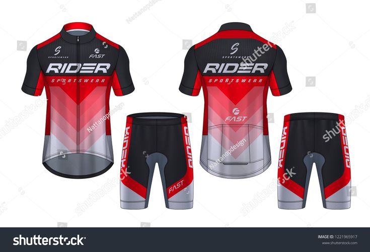 Download Cycling Jerseys Mockup T Shirt Sport Design Template Uniform For Bicycle Apparel Sepeda Desain