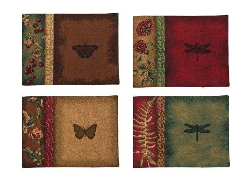 Manual Woodworkers and Weavers Placemat, Set of 4, Flora and Fauna