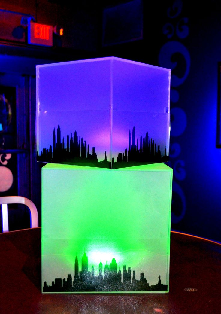 NYC Skyline LED Cubes Party Decor amp Centerpieces Http