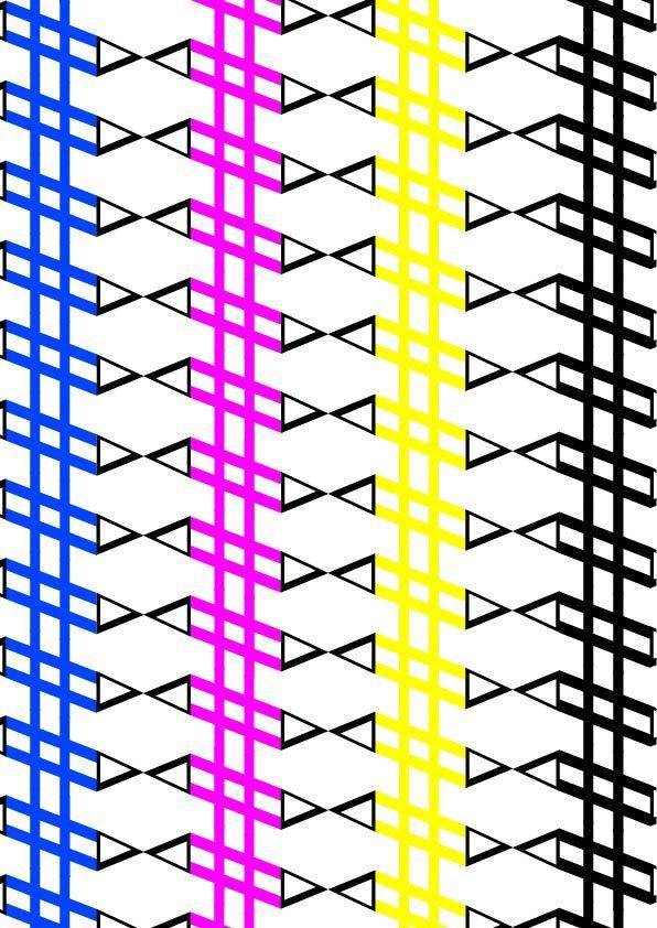 """DTL Nobel, Sjoerd de Roos & Dick Dooijes, 1929, pattern 2 (colore), """"lineare"""", ."""