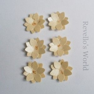 3D flowers for scrapbooking
