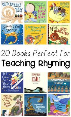 20 Rhyming Books for kids - Books are a great way to teach early literacy concepts like rhyming