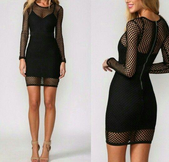 Lined mesh dress