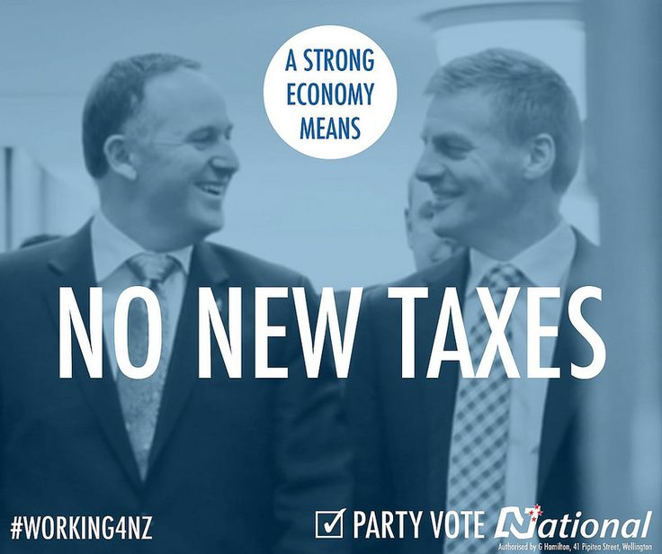 Labour wants to introduce five new taxes that will stall the economy. Don't let them put our economic recovery at risk. Keep the team that's #Working4NZ. Party vote National.