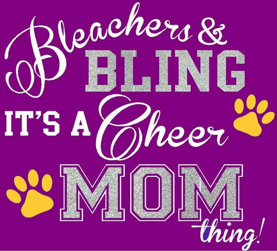 Bleachers and Bling Shirt Cheer Mom Football by WalnutStreetHouse2