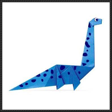 Simple Origami Plesiosaurus for Kids