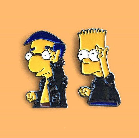 Bff Set Bart Simpson Milhouse Simpsons Tattoo Bart
