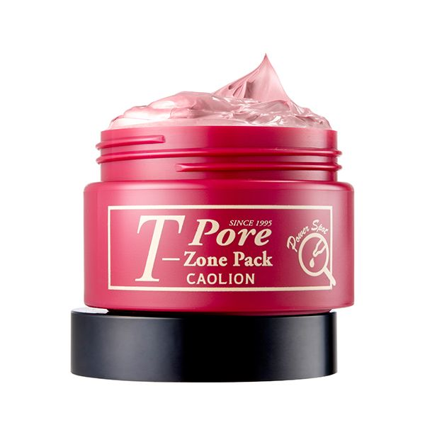 T-Zone Pore Pack (Red) Nourishes dull, uneven skin tones  in especially concerned areas #caolion #caolionusa #nature #beauty #natural #skin #skincare #cosmetics #pore #pack #masque #mask #tzone #homecare #facial #korea #seoul #usa #카오리온 #화장품 #뷰티 #팩 #모공