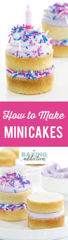 How to make adorable mini layered cakes! They're perfect for just about any occasion!