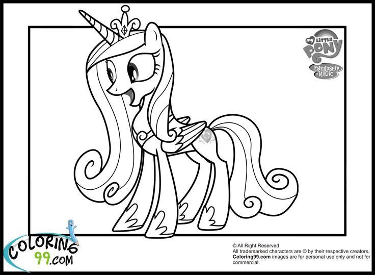 Princess Cadance ColouringColoring PagesMy Little Pony