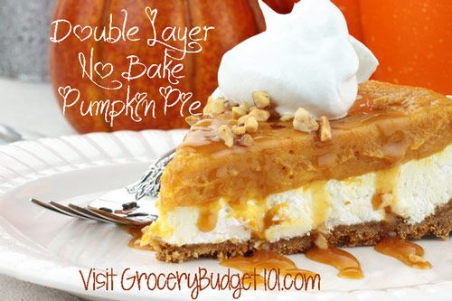 Double Layer No Bake Pumpkin Pie - need to sub for pudding and sugar to make S