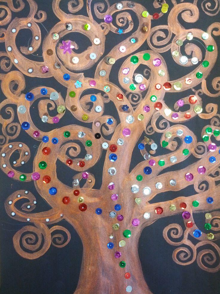 Griffin Art Center - Klimt Trees   Courtney Behnken