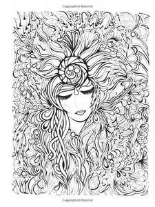 16 best CREATIVE HAVEN FANCIFUL FACES COLORING images on Pinterest ...